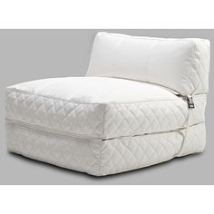 @Overstock - This white bean bag bed would be a functional and stylish addition to your home. This leatherette beanbag bed is a striking, comfortable chair by day, and can be folded out to accommodate guests whenever you need the extra bedroom space.http://www.overstock.com/Home-Garden/Austin-White-Bean-Bag-Chair-Bed/6405165/product.html?CID=214117 $197.99