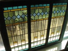 For breakfast nook  Art Deco Stained Glass Windows 13x by TheVintageRustle on Etsy, €975.00