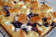 wpurp-searchable-recipeBlueberry Cream Cheese French Toast Casserole  - Serve drizzled with our homemade Blueberry Syrup and whipped cream!  - FRENCH TOAST:, French bread (or 12 slices Texas Toast, c