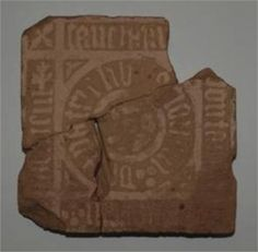 Keighton? Nottingham Medieval Encaustic floor tile.