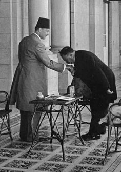King Farouq(on the left) and the prime minster of Iran 1938.