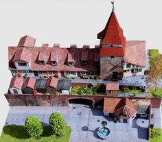 This is the Zundeltor Tower Complex , an architectural site  from Germany , and this paper model  was based in a real building situated in ...