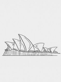 Sketches, Easy Drawings, Art Drawings, Travel Drawing, Travel Wallpaper, Australia Tattoo, Art Sketches, City Drawing, Minimalist Art
