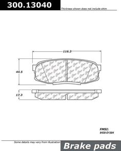 Buy Toyota Land Cruiser Disc Brake Pad Centric 300.13040 - TheAutoPartsShop for as low as $18.00 at TheAutoPartsShop.  Brand : Centric,   Part Number : 300.13040,  Price : $18.00,  2 Years Warranty, . Get Best Discount Deals for Your Auto Parts, More than 3 Million Parts in The Auto Parts Shop Website. Fitement Year:2011, 2010, 2009, 2008