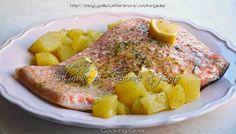 Trancio di salmone al limone al forno