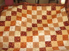 Wedding Guest Book Quilt - close up - signatures | Flickr - Photo Sharing!