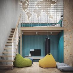 You belong to those groups people that rarely worry about glamour and also over-the-top designs for your home, then this is definitely your cup of joe. Check this out content to get diy home decor ideas on budget. Kids Room Design, Loft Design, Design Design, Design Ideas, Interior Design, Bedroom Loft, Kids Bedroom, Loft Beds, Bunk Beds