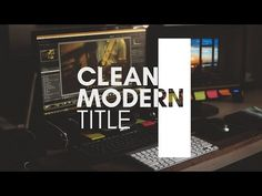 After Effects Tutorial | Clean Modern Title - YouTube
