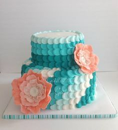 Teal and coral... such a fabulous color combination
