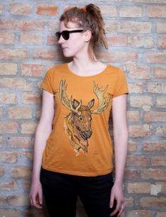 Für alle Tierfreunde: Das ELCH T-SHIRT. Für jede Jahreszeit ein hingucket. #organicwear
