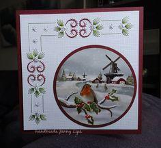 Christmas Embroidery, Albums, Frame, Cards, Handmade, Decor, Repurpose, Picture Frame, Hand Made