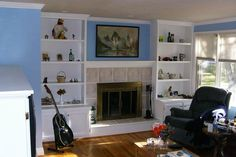 only in cherry Google Image Result for http://www.northernlakesconstruction.com/Images/Fireplace%2520bookshelves.jpg