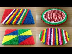 Top 5 Doormat Design Ideas 🚲 Creative Paposh Designs 🍎 5 Awesome Doormat at Home ! Hobbies And Crafts, Diy And Crafts, Paper Crafts, Idee Diy, Bracelet Crafts, Crochet Videos, Diy Door, Handmade Home Decor, Craft Work