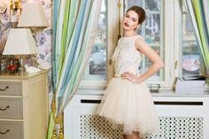 Rochie din dantela si tulle. Se poate realiza pe diferite culori!