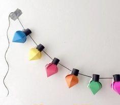 Новогодняя гирлянда из бумажных фонариков (оригами)