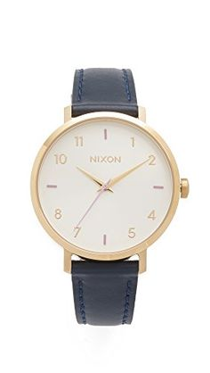 Nixon Women's 'Arrow' Quartz Metal and Leather Automatic Watch, Color:Blue (Model: A1091151-00) *** Be sure to check out this awesome product.