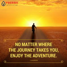 Enjoy the Journey. Journey, Celestial, Thoughts, Adventure, Sunset, Movie Posters, Outdoor, Outdoors, Film Poster