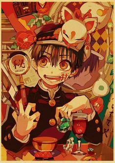 Back To College Jibaku Shounen Hanako-kun Anime Manga HD Print Retro Poster Wall Stickers For Living Room Home Art Decoration - 30X21cm-07 / E186