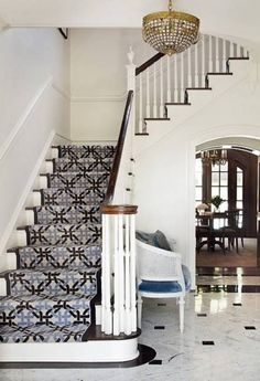 137 best staircase runners images diy ideas for home entryway rh pinterest com