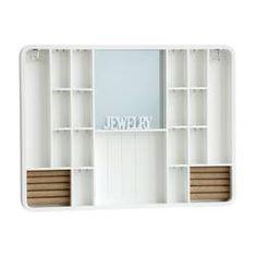 Symple Stuff Jewelry Cabinet with Mirror   Wayfair.co.uk Wall Mounted Jewelry Armoire, Jewelry Wall, Jewelry Cabinet, Jewelry Storage, Wall Shelf Decor, Wall Shelves, Modern Jewelry Box, Budget, Shelf Design