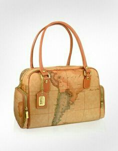 Alviero martinis world map bags so much class fashionisto i love this if only it wasnt real leather alviero martini classe prima classe geo printed carryall handbag another world map gumiabroncs Choice Image