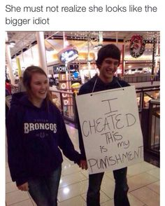 Stop letting ur man be a cheater like he cares he's wearing a sign