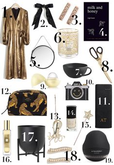 Christmas Gift Guide, Christmas Gifts, Interior Design Jobs, The Frugality, Fabric Shaver, Milk And Honey, Rose Gold Plates, Tree Decorations, Day