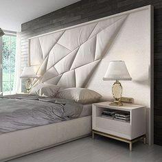 trendy bedroom bed back design Bedroom Furniture Design, Modern Bedroom Design, Master Bedroom Design, Bedroom Decor, Furniture Ideas, Furniture Stores, Antique Furniture, Modern Furniture, Bedroom Ideas