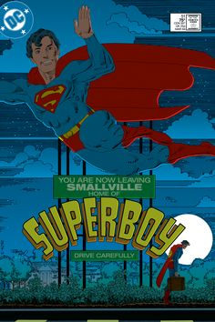 The New Adventures of Superboy No. 51 Cover by Frank Miller, March 1984, DC Comics. Cover recoloured by Scott Dutton / Catspaw Dynamics.