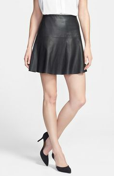 Vince Perforated Leather Skirt available at #Nordstrom