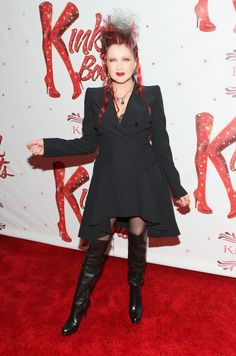 "Cyndi Lauper At The Opening For ""KinkyBoots"""