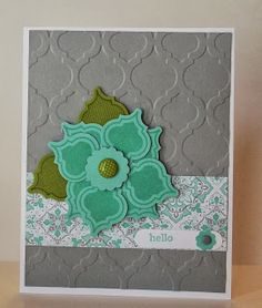 Stampin' Up! Card by stamping sanity: Mosaic Madness Flower