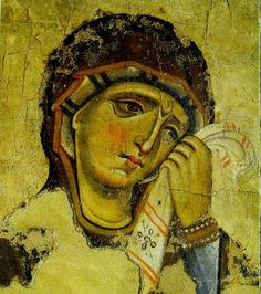 """Recently, a friend e-mailed me and asked if Orthodox Christians believe that Mary was """"perpetually a virgin."""" The short answer is, yes! Early Christian, Christian Art, Images Of Mary, Byzantine Art, Orthodox Christianity, Art Icon, Orthodox Icons, Sacred Art, Religious Art"""