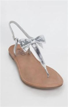 Deb Shops thong #sandal with #sequin #bow
