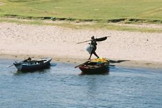 Fisherman on Nile, Egypt