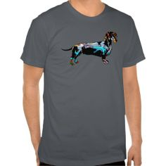 Graffiti covered Dachshund shirt $32.70 Check out all the graffiti dogs at: http://www.zazzle.com/stickywicket?rf=238948349380126736 #graffiticovereddachshund #graffitidogshirt