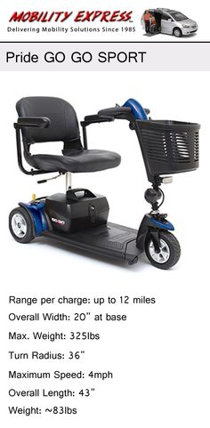 11 best scooters by ctm merits pride and more images on pinterest pride go go sport 3 wheel scooter for seniors the elderly fandeluxe Gallery