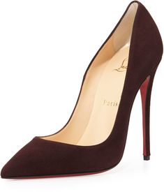 Christian Louboutin So Kate Suede 120mm Red Sole Pump, Burgundy