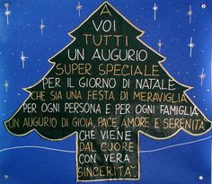 Un albero speciale per gli auguri di Natale!! Christmas Poems, Christmas Activities, Kids Christmas, Merry Christmas, Good Sentences, Italian Quotes, Happy B Day, Vintage Greeting Cards, Work Quotes