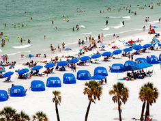 The Clearwater Beach coastline stretches for 3 blissful miles along Florida's Gulf Coast. This family-friendly beach offers ample outdoor activities, including hours spent sunbathing or swimming in…MoreMore Top Vacation Destinations, Best Vacations, Vacation Spots, Vacation Ideas, Clearwater Beach Florida, Florida Beaches, Florida Vacation, Florida Travel, Travel Europe