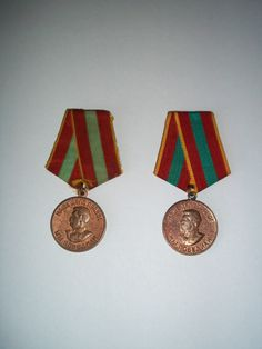 """Medals """"For Valiant Labour in the Great Patriotic War 1941–1945"""""""