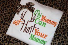 Mommy deer hunting shirt or onesie for boy or girl on Etsy, $21.00