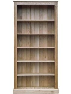 Solid Pine or Oak 6ft x 3ft Bookcase Adjustable Display Shelving, Painted, Waxed or Lacquered