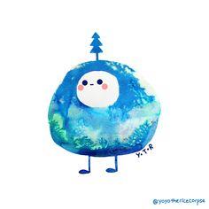 Winter blobs on Behance