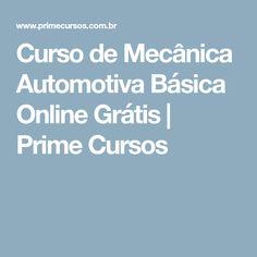 Curso de Mecânica Automotiva Básica Online Grátis   Prime Cursos