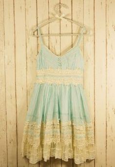 Boho Style - Mint Lace Dress - Retro, Indie and Unique Fashion Pretty Outfits, Pretty Dresses, Cute Outfits, Lacy Dresses, Pastel Dresses, Floral Dresses, Mint Dress Lace, Blue Lace, Green Lace
