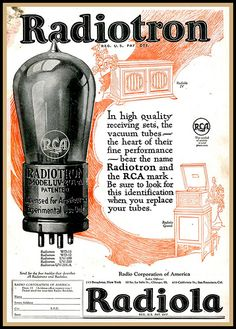 RCA Radiotron Tube Ad by montanaman1, via Flickr