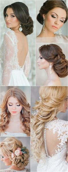 Wedding Hairstyle   : Featured Hairstyle: Elstile;www.elstile.ru; Wedding hairstyle idea.