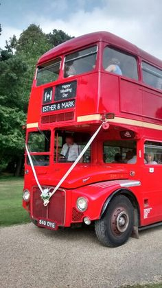 Double decker - fab way to transport wedding guests to your venue