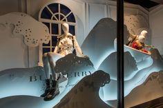 Burberry Christmas window display at Harrods, London – UK » Retail Design Blog